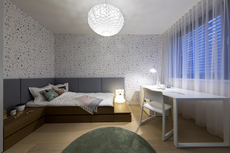 07b14b989dd76 Detskú izbu sme navrhli neutrálne, aby mohla slúžiť pre dievčatá aj  chlapcov. Dizajn detskej izby je v podobnom duchu ako zvyšok bytu, teda  decentný a ...